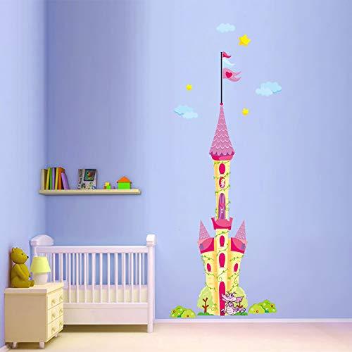 Decalmile Gigantes Castillo Princesa Pegatinas Decorativas