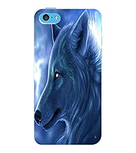 ColourCraft Wolf Look Design Back Case Cover for APPLE IPHONE 5C