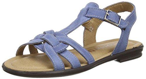 Ricosta Birte, Sandales Plateforme fille Bleu - Blue (Reef 155)