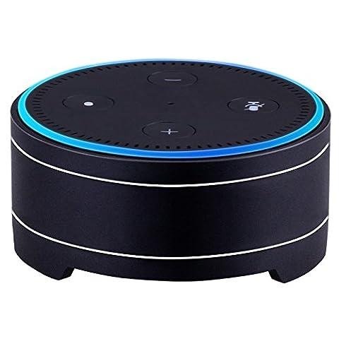 Lautsprecherständer für Amazon Alexa Echo Dot, Bresuve Aluminium Lautsprecher Halter Case für Amazon Echo Echo Dot Stand Halter Basisstation für Alexa Dot 1 und 2 Generation(Schwarz)