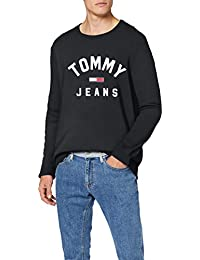 Tommy_Jeans TJM Essential Flag Crew Sudadera para Hombre