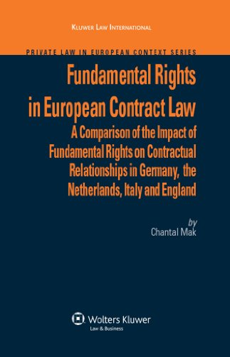 Fundamental Rights in European Contract Law (Private Law in European Context)