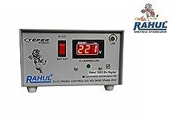 Rahul 1023 DLX a Digital 700 VA/2.5 AMP 140-280 Volt 3 Step 1 Washing Machine/Refrigerator 90 Ltr to 220 Ltr Auto Matic Digital Voltage Stabilizer