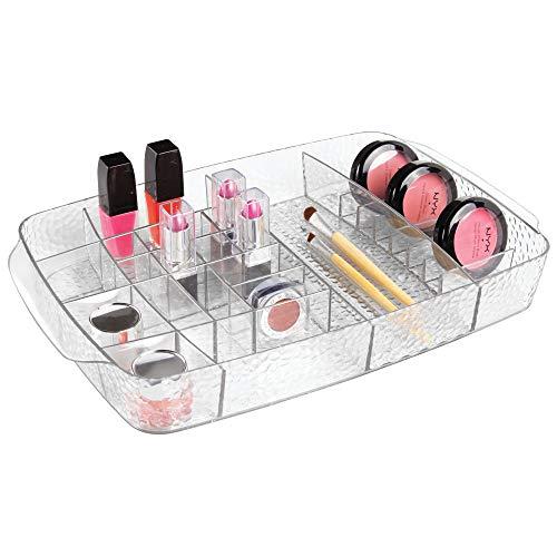 iDesign Kosmetik Organizer, Sortierkasten für Make-up aus Kunststoff mit vielen Fächern, Kosmetik Aufbewahrung, durchsichtig