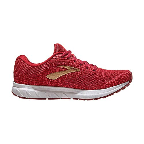 Brooks Revel 3 Rumba Red/Teaberry/Gold 7.5