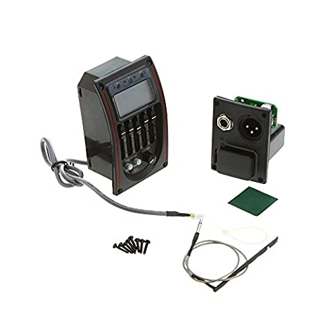 Tomorrowtop 5 Band Acoustic Guitar Preamp EQ Equalizer Piezo Pickup Tuner with LCD