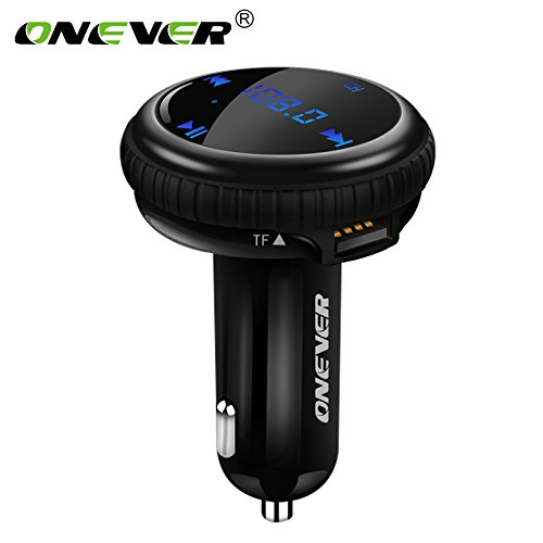 ONEVER BT69 Bluetooth Car Kit di musica del giocatore FM del modulatore del trasmettitore & APP GPS Car Finder Locator 2.1A Dual USB Car Charger di sostegno U disco / TF voltmetro