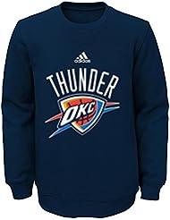 "Oklahoma City Thunder Jeunesse Youth NBA Adidas ""Primary"" Pullover Crew Fleece Sweatshirt"