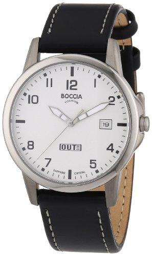 Boccia - 604-02 - Montre Homme - Quartz Analogique - Bracelet Cuir Noir