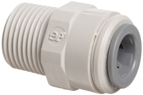 John Guest Straight Adaptor 3/8 inch Tube OD x 3/8 inch BSP Male Thread (one supplied) by John Guest (Thread Pipe 3/8 Male)