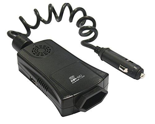 Ring Automotive REINV120 Wechselrichter mit 2,1 Amp USB-Anschluss, 12 V, 120 W
