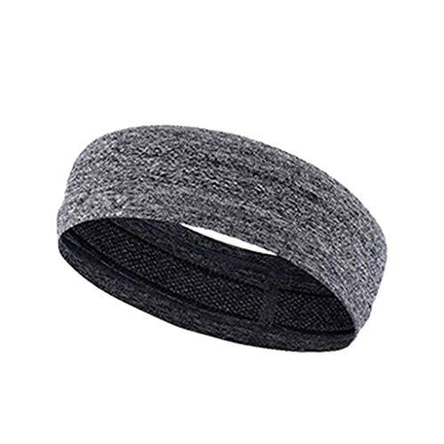 rauen Männer Super Saugfähige Schweißband Stirnband Rutschfeste Griff Druck Einfarbig Stretchy Haarband Sport Yoga Dance Headwrap - Grau ()