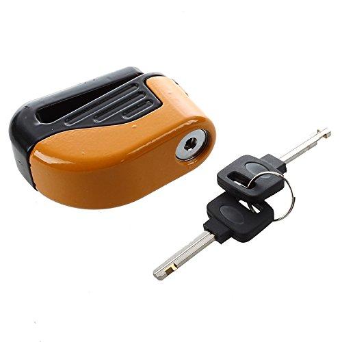 Sodial (r) blocco disco lucchetto blocca allarme di sicurezza in acciaio inox moto universale