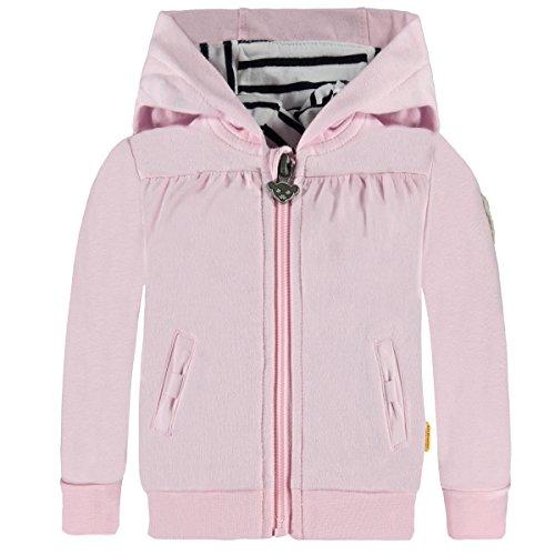 Steiff Baby Sweatjacke Mädchen, Kapuze Größe: 74 Farbe: rosa