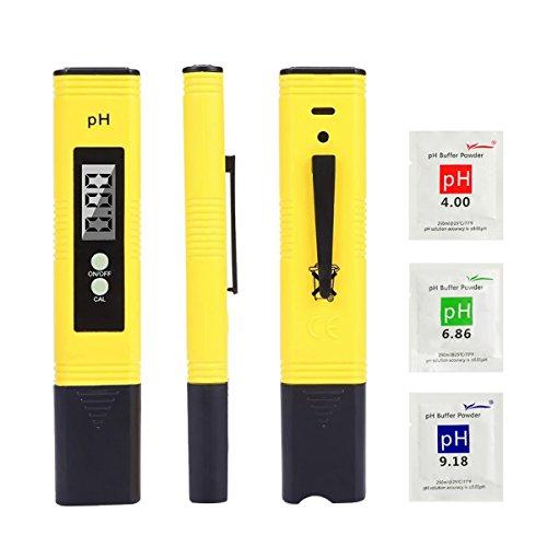 PH Mètre Numérique, LIUMY Stylo PH Mètre Testeur pH Portable Résolution 0,01pH, Test avec 0-14...