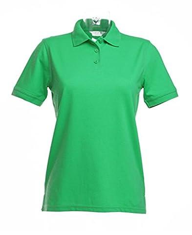New Womens KUSTOM KIT Klassic Polo-Shirt With Superwash Apple Green