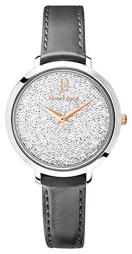 Pierre Lannier–107j609: Orologio da donna acciaio & Pelle–movimento quarzo–quadrante grigio