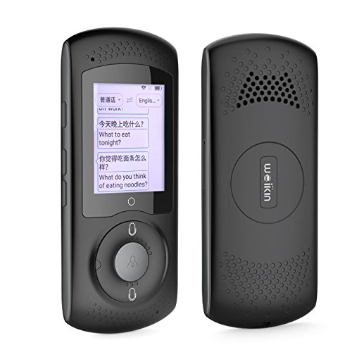 WEIKIN Portable Voice Translator Simultandolmetscher - 2.0 Zoll Touch Screen sofortige Sprachübersetzung - 45 sprachiges Elektronisches Wörterbuch - Geeignet für Lernen, Reisen, Einkaufen, Business