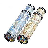 2 Pack Magic Kaleidoscope Classic Game Educational Toys,Best Birthday Gift for Children, Randomly Color