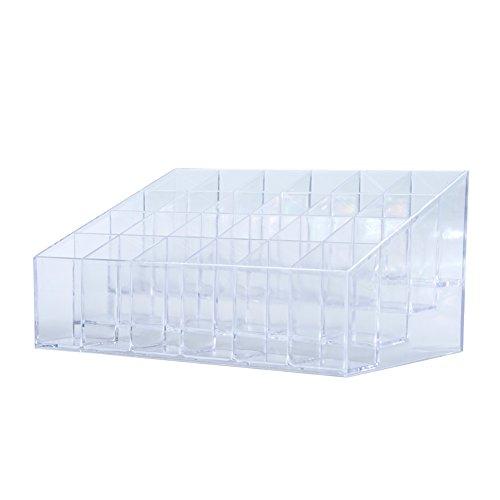 Zantec Femme Présentoire à Rouge à lèvres Rangement cosmétique 24 compartiments Boîte transparente
