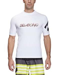 Billabong Influence Top à manches courtes en Lycra pour homme Blanc blanc M