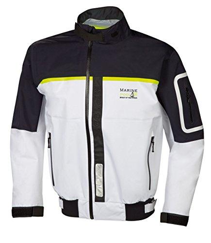 Marinepool Herren Funktionssegelbekleidung Squall Jacket, White/Navy, XXL