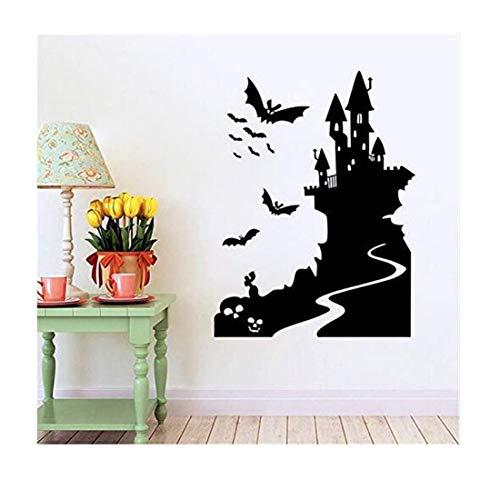 Moderne Wandbild Wandaufkleber Wandtattoos Halloween Fenster Abnehmbare Dekoration Wandaufkleber Wohnzimmer Kreative Aufkleber 58X79 ()
