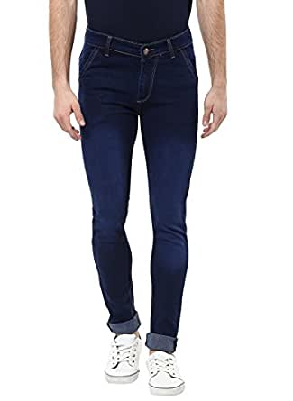 Urbano Fashion Men's Blue Slim Fit Stretch Jeans (eps-blue-38200-36)
