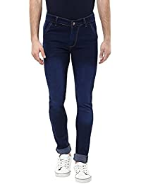 Urbano Fashion Men's Blue Slim Fit Stretch Jeans