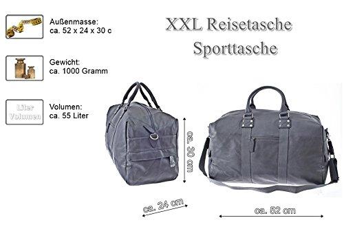 Reisetasche, Pilotentasche, XXL, Schultertasche, Umhängetasche, Handtasche allrounder Reisetasche Sporttasche Reisegepäck Tasche Weekender (Camel) Grau