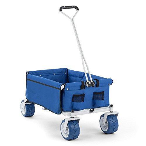 DURAMAXX The Blue Carretto A Mano Pieghevole con Ruote Larghe (Carico 70 kg MAX, ruote extra large 10 cm, ripiegabile) Blu