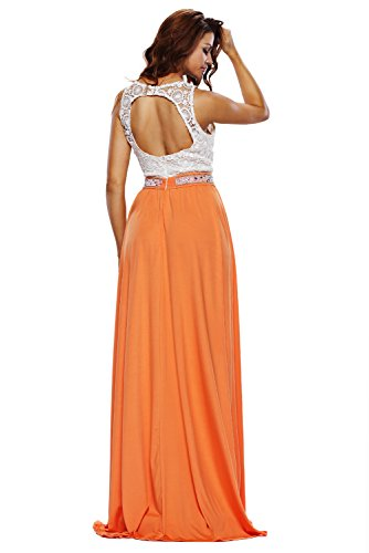 NICE BUY Glamours Spitze Satin Maxi Partei AbendKleid Maxi Prom Kleider Bildfarbe