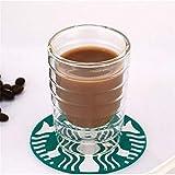 FZGZSW BecherKaffeetasse Doppelwandige Kaffeetasse aus Glas Durchsichtige, isolierte Espressotassen 150 ml Hitzebeständige Teetasse Bleifreies Glas