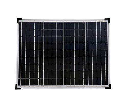 solartronics Solarmodul 50 Watt 668x508x35mm 4,8kg Polykristallin Solarpanel Solarzelle