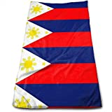 Xaceoiuu Philippine Island Flag Rectangle Sticker Bath Towels for Bathroom-Hotel-Spa-Kitchen-Set - Circlet Egyptian Cotton - Highly Absorbent Hotel Quality Towels 12' X 27.5'