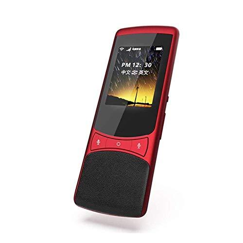 SuRose Intelligentes Sprachübersetzer-Gerät, tragbarer sofortiger 2-Wege-Sprachübersetzer mit Touchscreen-Unterstützung von 2,4 Zoll HD 51 Sprachen, für das Lernen von Tourismusunternehmen, schwarz