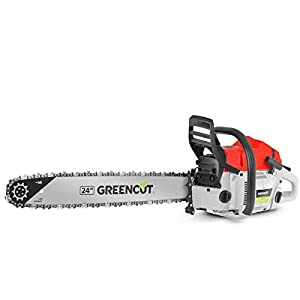 Greencut GS7200 24 – Motosierra de gasolina, 72cc – 4,2cv, espada de 24″
