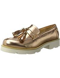 Metallic Ladies Shoes, Mocasines para Mujer, Rosa (Nude Nude), 38 EU Xti
