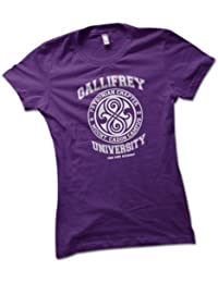 University of Gallifrey Ladies T-Shirt Choice of 8 Colours in Sizes S to XL