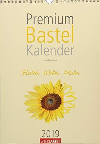 Premium Bastelkalender 2019 Champagner 33 x 23 cm: Basteln - Kleben - Malen
