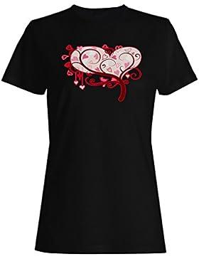 I amor usted novedad, divertido, vintage, arte camiseta de las mujeres zz45f