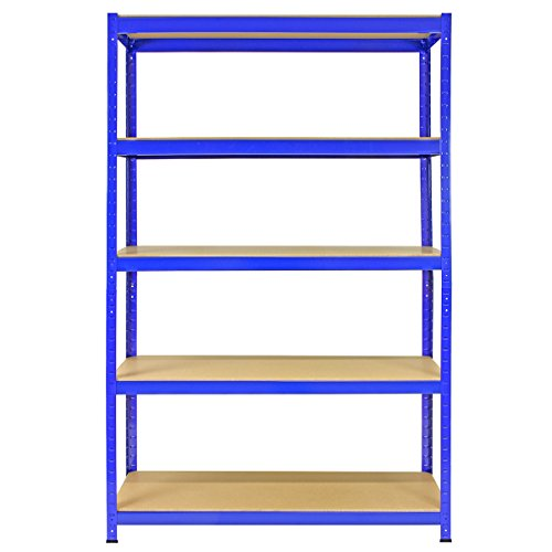 Buy 5 Bay Warehouse Shelving / Shed Storage / Garage Racks 5 Tier 120cm x 45cm x 180cm T-RAX + FREE Rubber Mallet