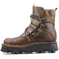 YAN Chaussures Homme Cuir Automne Nouvelles Bottes Martin Chaussures  D entraînement Haut-Haut Lacets 97f2ca27f50a
