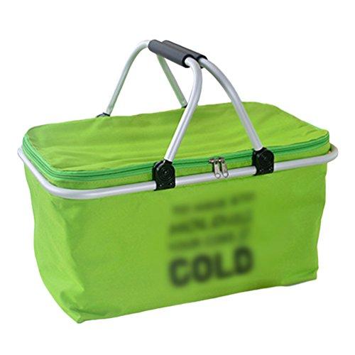 Dexinx Wasserdicht Robust Picknick-Box Staubdicht Lunchbox Geschlossen Weich Tasche Grün 48*28*24cm