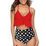 Oyedens Donna Solido Sexy Push Up Imbottito Bikini Halter Costumi da Bagno Due Pezzi Costume...