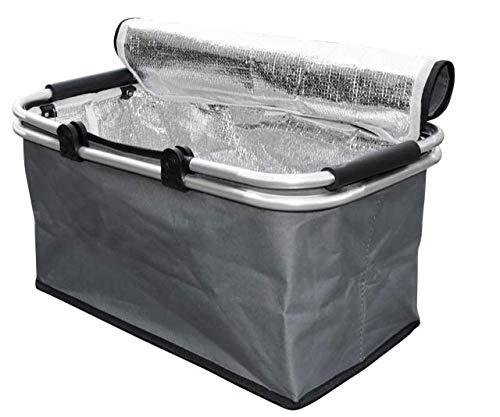 Cesta termica aislada, Plegable y Resistente Porta Alimentos con Asas de Aluminio...