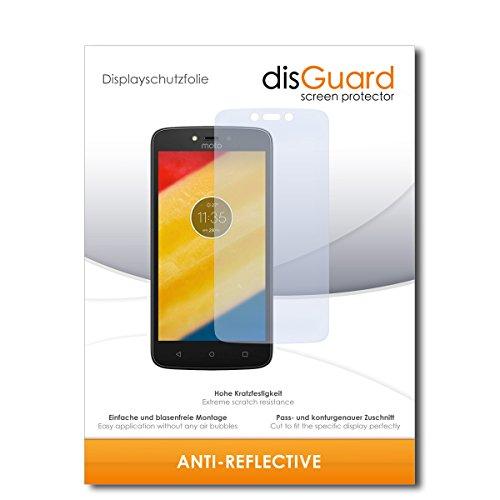 disGuard® Displayschutzfolie [Anti-Reflex] kompatibel mit Lenovo Moto C Plus [2 Stück] Entspiegelnd, Matt, Antireflektierend, Extrem Kratzfest, Anti-Fingerabdruck - Panzerglas Folie, Schutzfolie