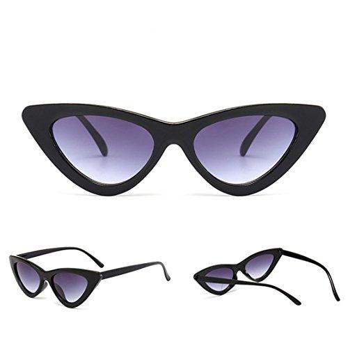 Loveso Frauen Mode Katzenaugen Shades Sonnenbrille integrierte UV-Süßigkeit-farbige Gläser (C, 5.0cm)
