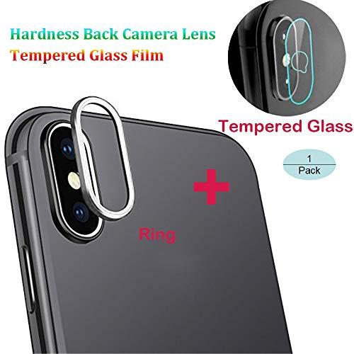 Silber, Glas, Audio (XXYsm Kamera Schutzfolie Ring für iPhone XS Kamera Protector Hartglas Film 9H Härte Vollschutz Gehärtetes Glas Q Form Loch (1 Stück, Silber))