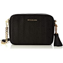 Michael Kors - Medium Camera Bag, Bolso bandolera Mujer, Negro (Black),